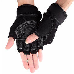 Gym Gloves Weight Lifting Glove Half Finger Anti-skid Gym Training Fitness Gloves Sports Gym Gloves Black M