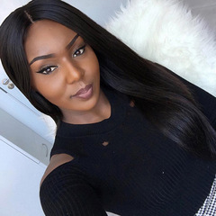 New Synthetic Wigs Hair Wigs Women's Wigs Long Hair Straight black one size