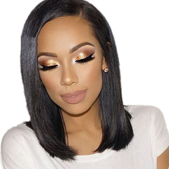 2018 New Fashion Synthetic Wigs Hair Wigs Women's Wigs Hair Straight Short black one size