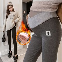Warm pants for pregnant women Thickening underwear Warm and Thicker Pants for Pregnant Women Black M