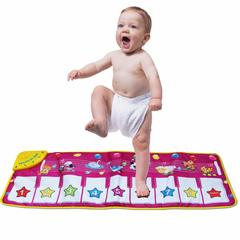 Multifunction Musical Mat Kid Playing Game Shiny Piano Keyboard Carpet Dancing Singing Funny Pad Toy baby musical mat 100x36cm