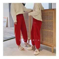 China red  Warm Pants New Year Blessing Bag New Year's gift Red Pants, Red Socks China red one size