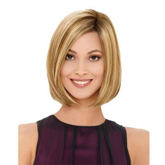 Human Short Wigs For Women Hair Wig Europe Gold Women Straight Human Wigs Ladie Gold One size