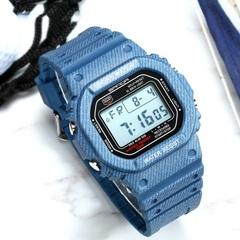 Denim Sports Waterproof Couple Watch Waterproof Luminous Multi-Function Watch Dark Blue Watch For Men None