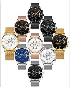 Hot Sale!Man Business Watch Man Watch Glass Waterproof Luminous Quartz Solid Steel Belt Watch Z222GB one size