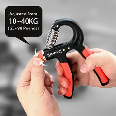 Adjustable Strength Handgrip Fitness Equipment Men's Gripper Hand Strength Training Equipment Black with red