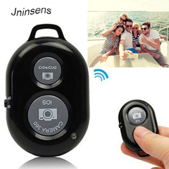 Bluetooth  Camera Self Timer  Button Selfie Stick Shutter Wireless Remote Control For IOS, Android Black One size