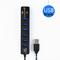Multi Transmission 2 in 1 USB Hub 2.0 6 Port HUB Splitter TF SD Card High Speed Up to 480Mbps Reader Black One size