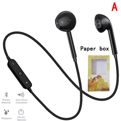 Bluetooth Earphone Sports Headset Stereo Bass Earbuds Wireless Earphones  Neckband Headset With Mic white1