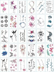 2018 30 Sheet Women Rose Flower Decal Tattoo  Water Transfer Waterproof Temporary Tattoo Sticker colours