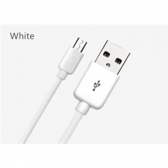 Data line smart phone data line V7 Android mobile USB charger line fast charging White 1M