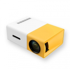 HDMI USB Mini Projector Media  Home projecting apparatus office Projector Protable Projector YG300 Yellow