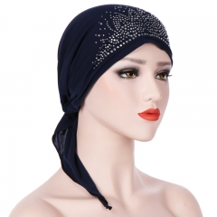 New Fashion Islamic Clothing Women Ruffle Headscarf Chemo Hat Turban Head Scarves Pre-tied Headwear 1