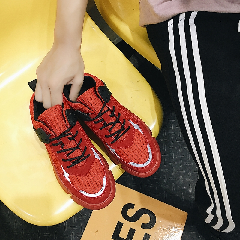 199aeed9d33 mens Fashion Sport Light Weight Running Shoes Casual Unisex Canvas Trainers  Breathable Tennis Shoes red 41