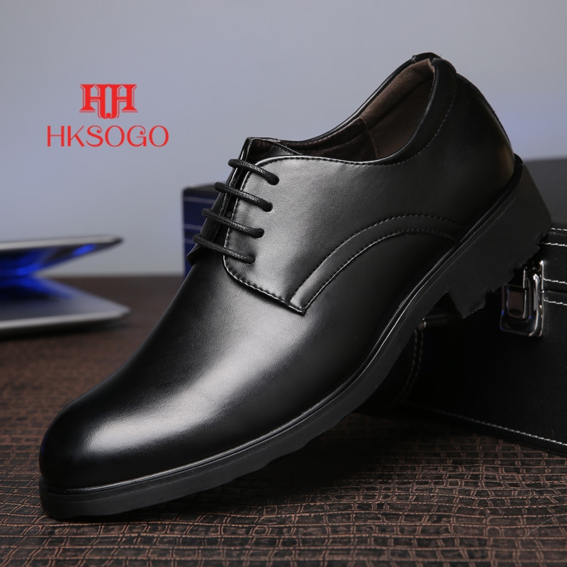 ccc97c776be New 2018 Men Business Formal Dress Shoes Oxford Men Leather Shoes Lace-Up  British Style Men Shoes black 39  Product No  2016767. Item specifics   Brand