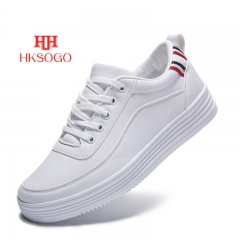 Women Fashion Shoes Ladies Embroidered Flat Lace Up Sport Sneakers Trainers Shoes WHITE 39