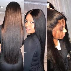 Peruvian Virgin Human Hair Quality By Strive K&Q black 18 inch 2 bundles