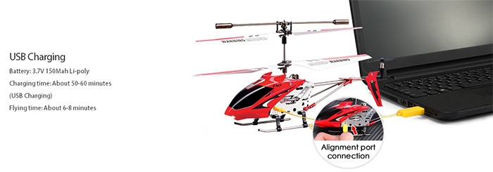 Syma S107G 3CH Remote Control Helicopter Alloy Copter with Gyroscope Red  Normal