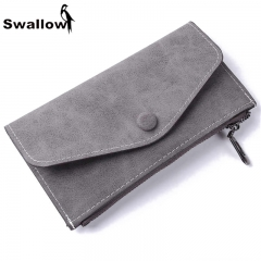 Scrub Long Wallets For Women Purses Luxury Brand With Card Holder Clutches black one size