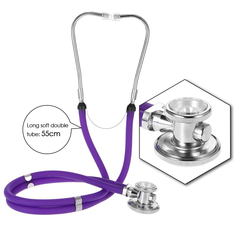 Dual Headed Stethoscope Professional Portable Medical Tube Double S07 as picture