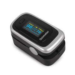Finger Pulse OLED Oximeter Fingertip SPO2 PR PI RR Blood Oxygen With Respiratory Rate Monitor Meter black