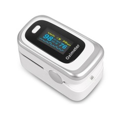Finger Pulse OLED Oximeter Fingertip SPO2 PR PI RR Blood Oxygen With Respiratory Rate Monitor Meter silver
