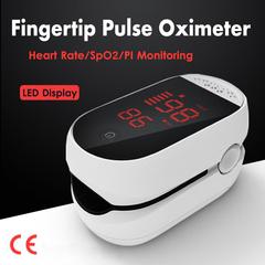New Digital CE Finger Pulse pulse oximeter Fingertip LED Blood Oxygen Meter SPO2 Oximeter white
