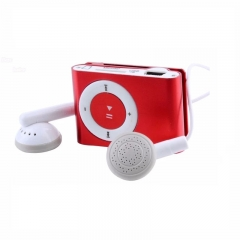 NEW Big promotion Portable MP3 player Mini Clip MP3 Player waterproof sport mp3 music player walkman Red