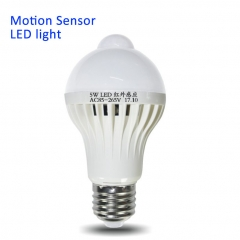 LED Night Light Body Motion Activated On/Off PIR Motion Sensor LED Lamp LED Bulb Warm light One Size 5W