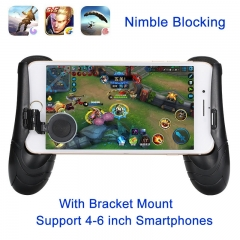 Phone Game Mount Bracket Gamepad Hand Grip Clip Stand For Android Apple Smartphones Gaming Handle Black One size