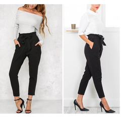 Women's Trousers 2018 Spring and Autumn Leisure Tenths pants length Trousers black s