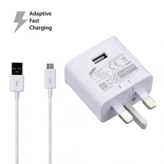 UK EU USA  5V-2A/9V-1.67A  Fast Charger +1.2m usb cable For Samsung Galaxy S6 S7 Edge Plus Note 4 5 White UK