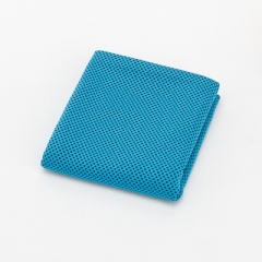 Microfiber fitness exercise ice cold towel blue 30*100cm