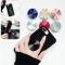 2 pcs New Multi-Function Holder Expanding Stand Grip Pop Socket Mount For Smartphones black 2 Pcs