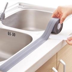 2 Pcs Wholesale 3.2m Self Adhesive Bath Wall Sealing Strip Sink Basin Edge Trim Kitchen Tool white 22mm