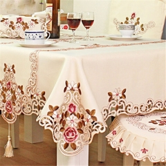 Europe Style Wedding Tablecloth Embroidered Floral Lace  Covers for Table Home Party Table Cloths As picture rectangle 140cm*200cm