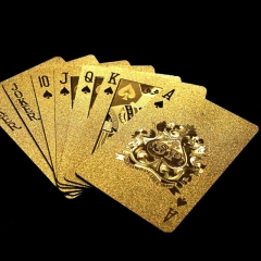 Luxury Waterproof 24K Gold Foil Poker Marvellous Silver Plated Plaid Playing Cards Deck Magic gold one size