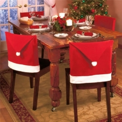 6pcs 50x65cm Christmas Chairs Back Cover Dinner Table Santa Hat Home Party Decor Gift red 50x65cm