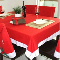 132X178CM Red Soft Cloth Tablecloth Christmas Desk Table Decoration Covers Mat red 132X178cm