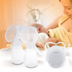 Safe Pregnant Double Intelligent Microcomputer USB Comfort Electric Breast Pump with white one size