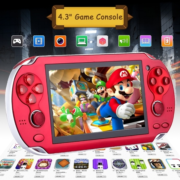 Video Game Console 4GB Free 2000 games 4.3 inch MP5 Players red 4.3inch