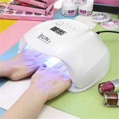 SUN X 48 / 54W UV / LED Nail Dryer Gel Polish Curing Dryer With LCD Display white