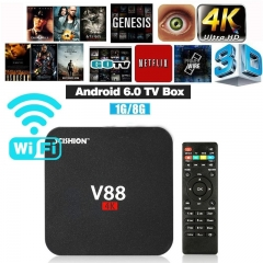 Home Theater V88 HD Android 6.0 Smart TV Box RK3229 4K Quad Core 8GB WiFi Media Player