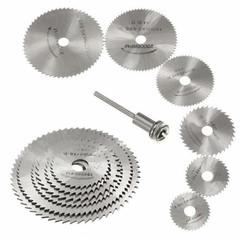 7Pcs HSS Rotary Tools Circular Saw Blades Cutting Discs Mandrel Cutoff Cutter