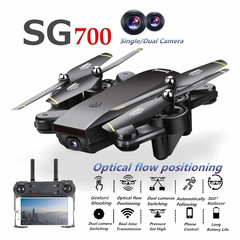 SG700 New Upgraded Single/Dual FPV HD Camera RC Drone black 1080p