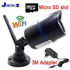 IP Camera Wifi 720P  Security Surveillance Outdoor Waterproof Wireless Home Cam black 3.6mm