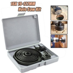 16X 19-127MM Hole Saw Kit Metal Circle Cutter Round Drill Bits + Case