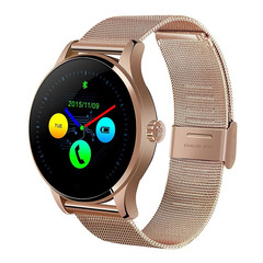 NEW K88H Smart Bluetooth Watch Heart Rate Monitor Stainless Steel Smartwatch  for IOS/Andriod Gold K88H