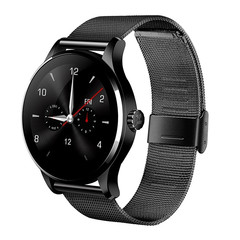 NEW K88H Smart Bluetooth Watch Heart Rate Monitor Stainless Steel Smartwatch  for IOS/Andriod Black K88H