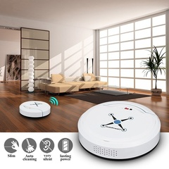 Smart Home Vacuum IntelligentCleaning Robot Automatic Robotic Floor Vacuum Cleaner Dust Sweeper white one size